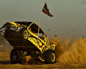 sand rail wheelie roosting sand at the glamis drags